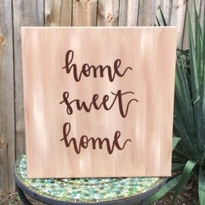 Calligraphy Home Sweet Home Canvas Home Decor